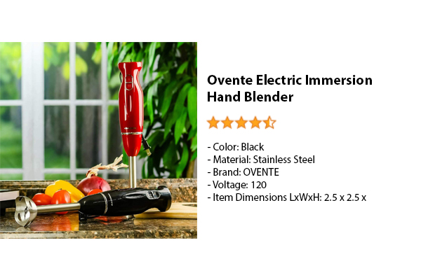 Ovente Electric Immersion Hand Blender